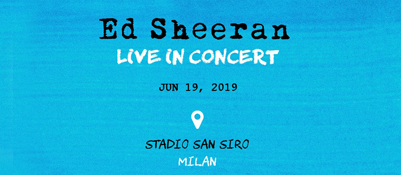 ED SHEERAN IN CONCERT - 20%off and ticket for the public transport
