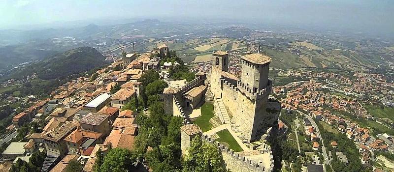 Fly over San Marino