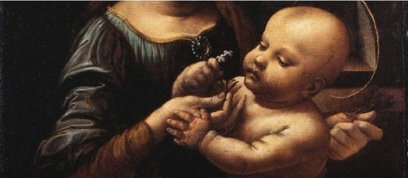 Leonardo da vinci - la madonna benois exhibition