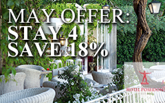 <font color=#800080><b>4 Nights Special in MAY...18% OFF!<b> </font><font color=#008800>Breakfast & ALL Taxes Included - Non Refundable</font>